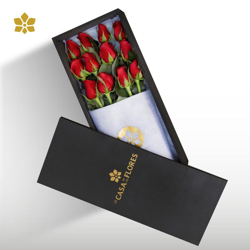 Eleganzza Box de 12 Rosas