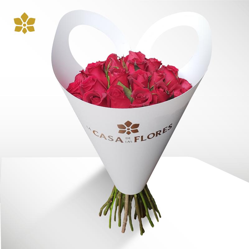 Bouquet 24 Rosas Rojas