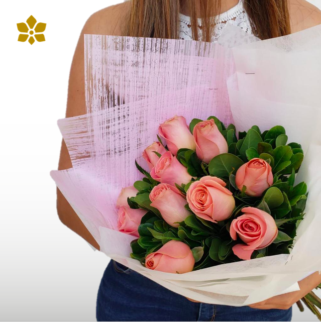 Bouquet 12 Rosas Rosas
