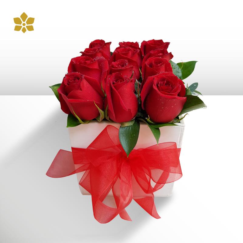 Caja 9 Rosas Rojas