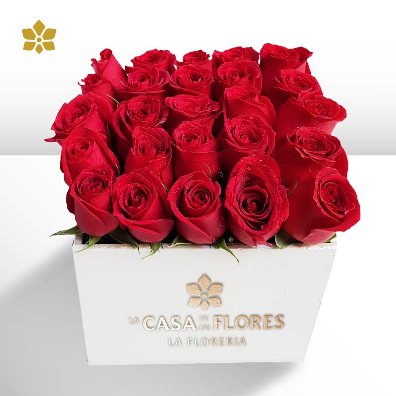 Caja 36 Rosas Rojas